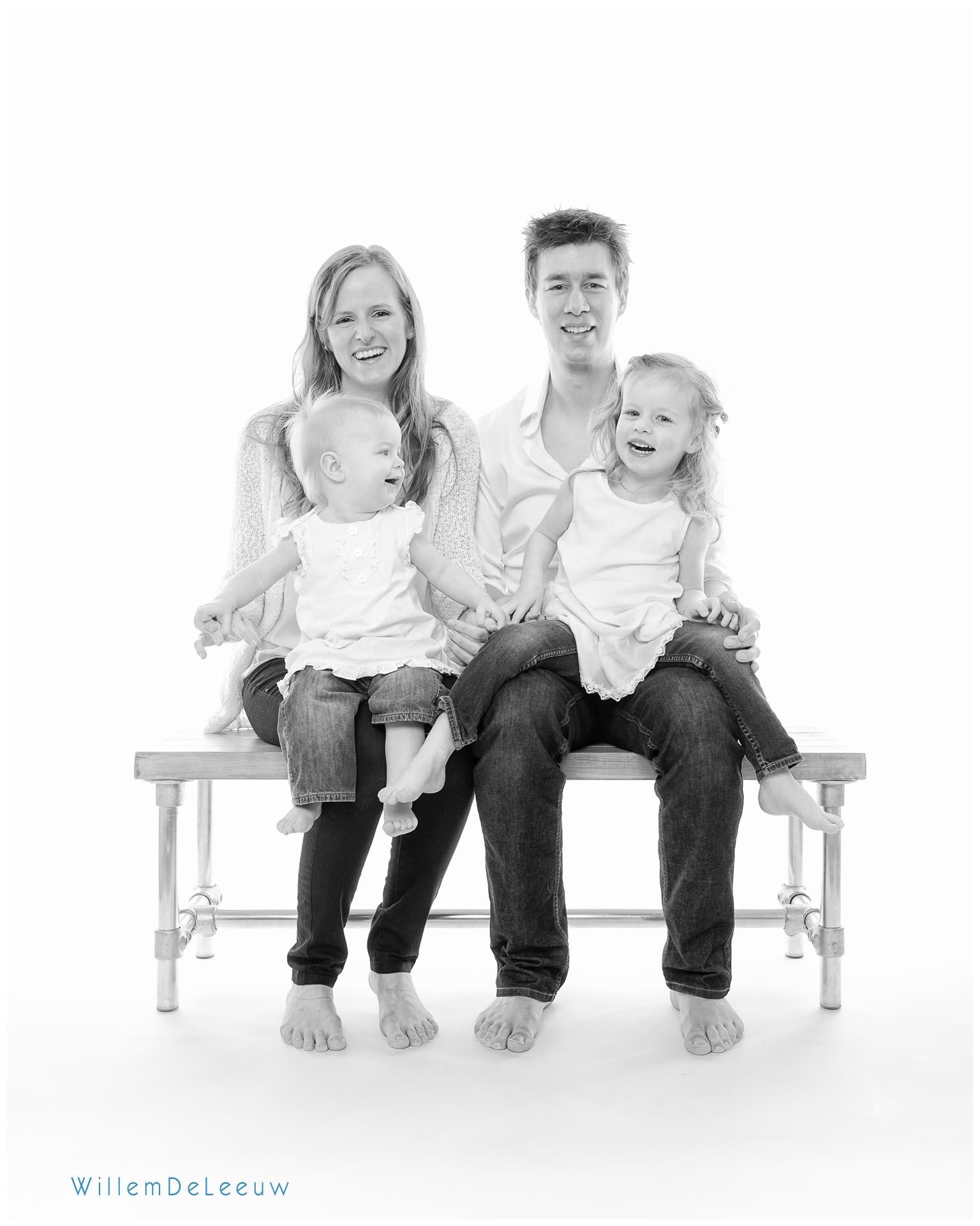 familiefoto in de studio WillemDeLeeuw