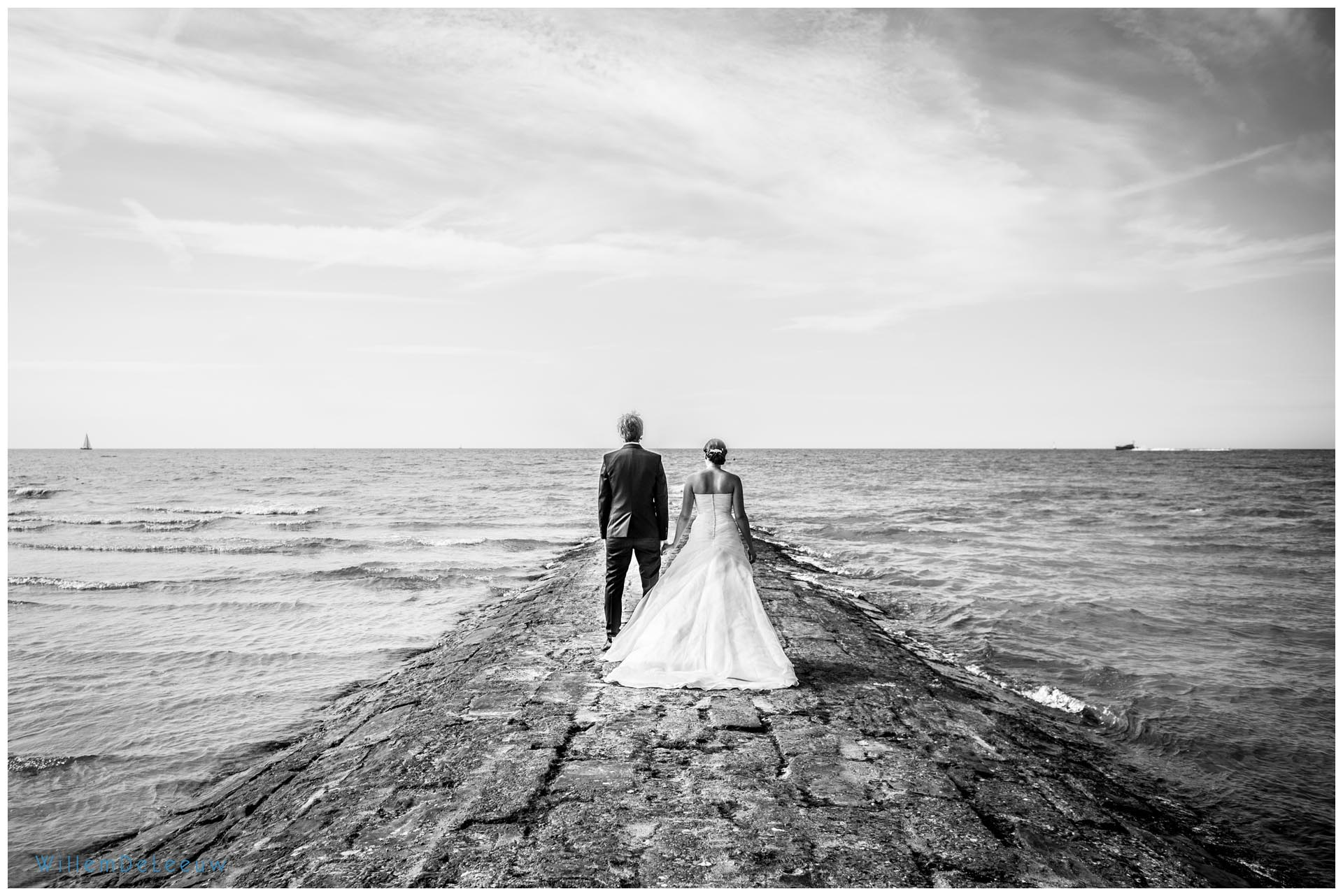 huwelijksfotografie aan zee Willem De Leeuw