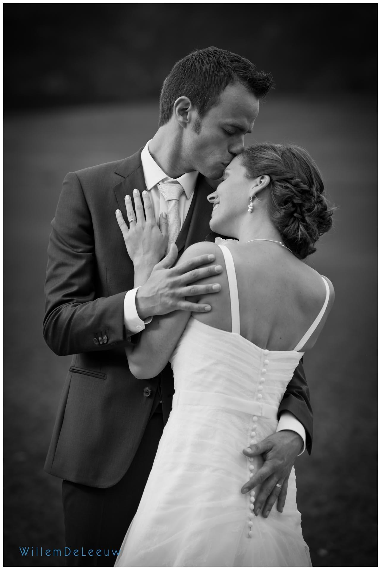 mooie zwart wit trouwfoto Willem De Leeuw