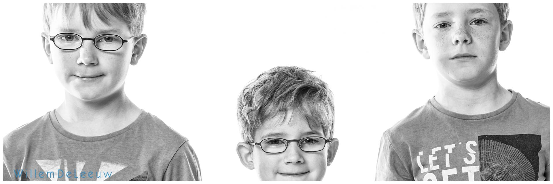 origineel portret van 3 jongens in de studio WillemDeLeeuw