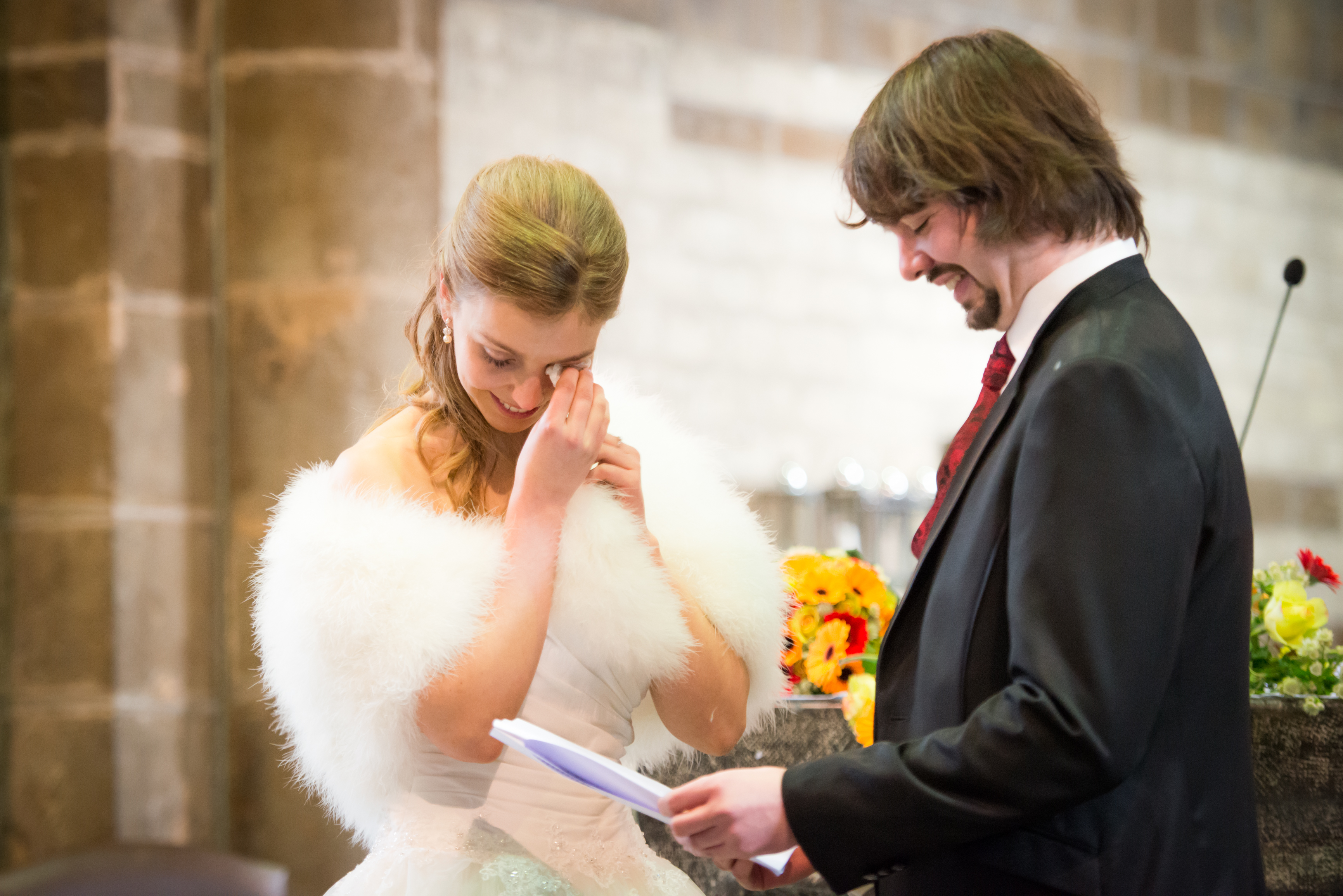 traantje tijdens de kerkelijke trouw Willem De Leeuw trouwreportage