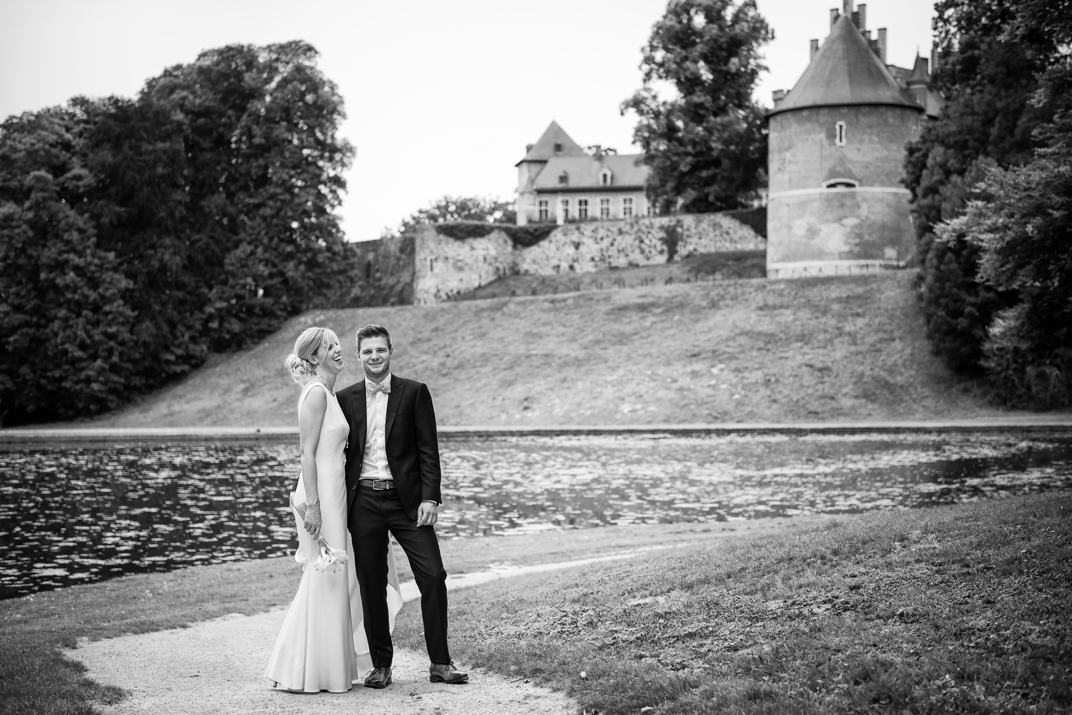 kasteel van Gaasbeek als decor voor huwelijksreportage Willem De Leeuw