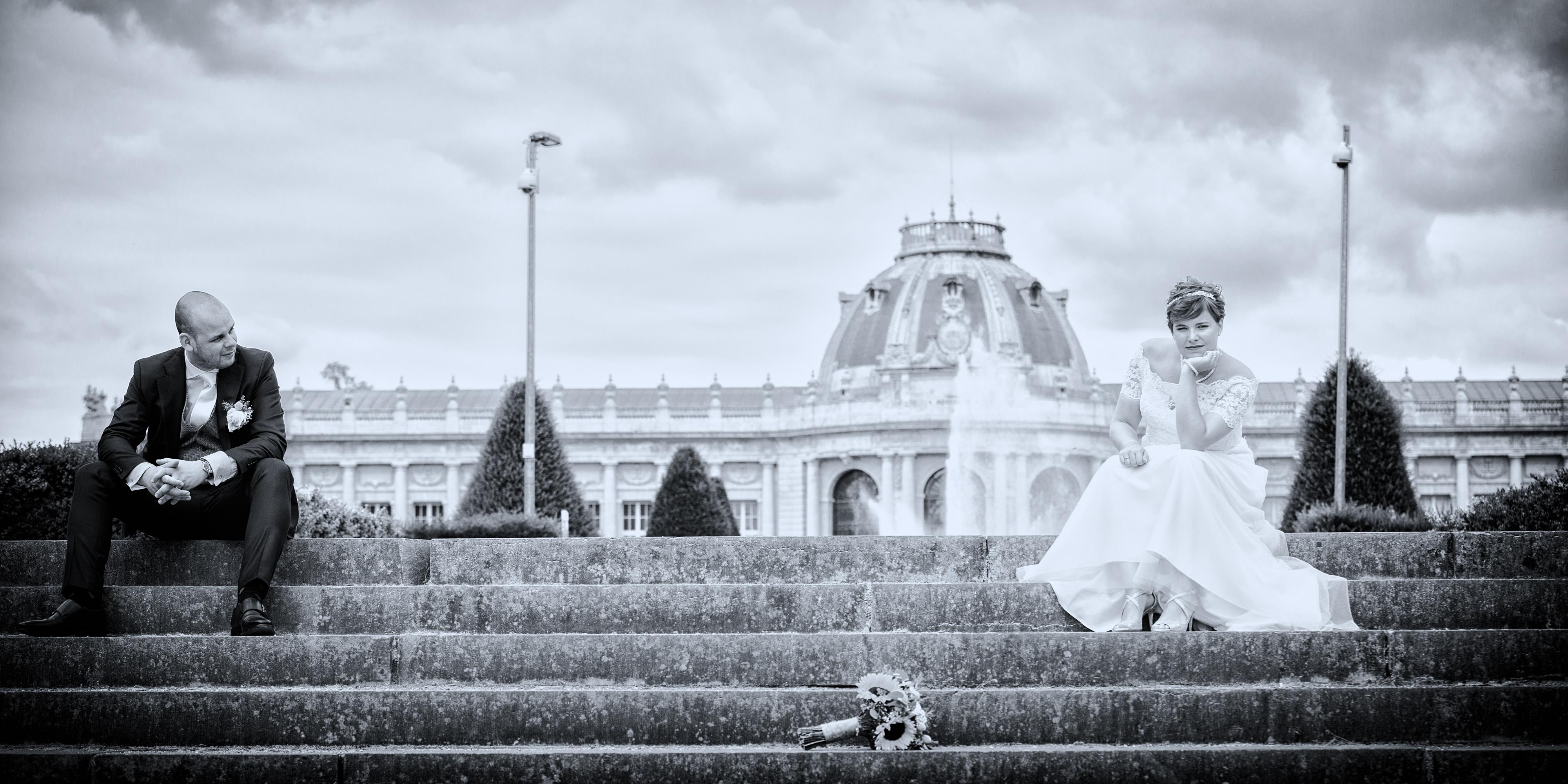 museum tervuren als locatie van huwelijksreportage Willem De Leeuw bruidsfotografie