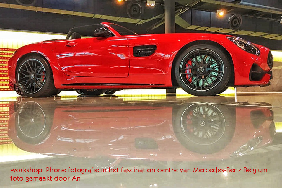 workshop iPhone fotografie bij Mercedes België